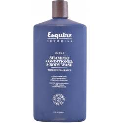 ESQUIRE GROOMING 3-in-1 shampoo,conditioner&body wash 414 ml