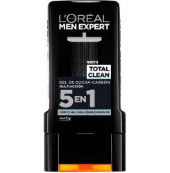 MEN EXPERT gel de ducha total clean carbón 300 ml