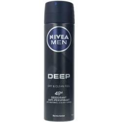 MEN DEEP BLACK CARBON deo vaporizador 150 ml
