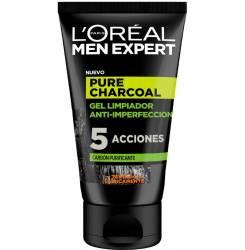 MEN EXPERT pure charcoal gel limpiador purificante 100 ml