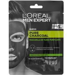 MEN EXPERT pure charcoal mascarilla tejido purificante