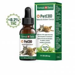 PETCBD natural chicken flavour 300mg CBD <0,2% THC 10 ml