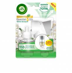 AIR-WICK ambientador electrico completo #white bouquet 19 ml