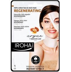 100% COTTON FACE & NECK MASK argan-regeneration 1 use