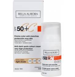 CC CREAM anti-manchas tono claro SPF50+ 30 ml